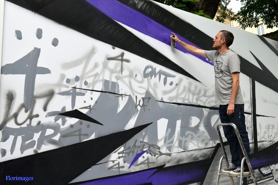 STREET ART MAIRIE DU 3ème ARRDT AVEC KATRE NEBAY ET MARKO (55)